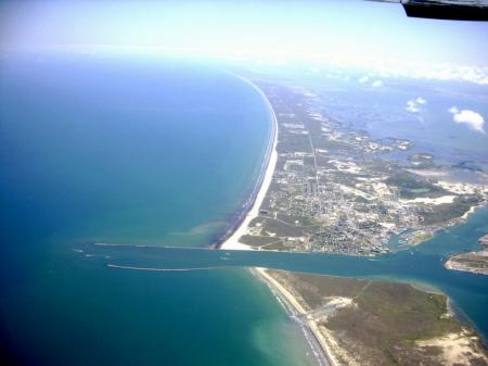 Click to enlarge image Arial view of the Aransas Pass ship channel. - Wahoo Quarters - One bedroom, one bath, LARGE condo with laundry, tile floors, Dog Friendly. Walk to beach