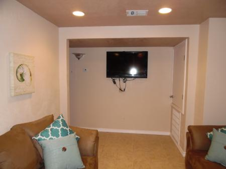 Click to enlarge image Large screen tv with spectrum service - LOVE'S NEST - 2 BR 1 BA Lower Apartment. Walk to the beach!
