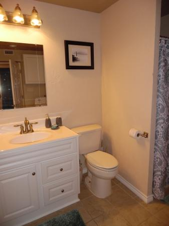 Click to enlarge image Roomy bathroom - LOVE'S NEST - 2 BR 1 BA Lower Apartment. Walk to the beach!