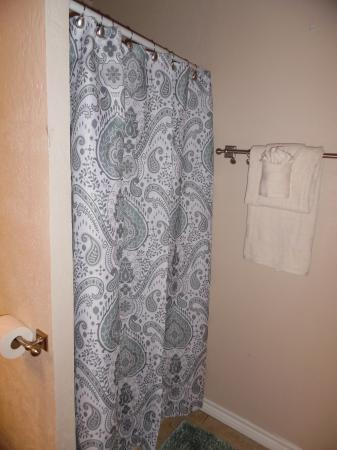 Click to enlarge image Walk in shower - LOVE'S NEST - 2 BR 1 BA Lower Apartment. Walk to the beach!