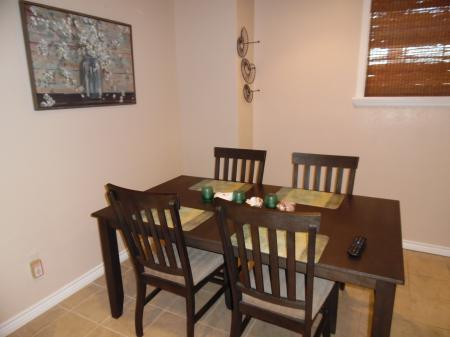 Click to enlarge image Dining area - LOVE'S NEST - 2 BR 1 BA Lower Apartment. Walk to the beach!