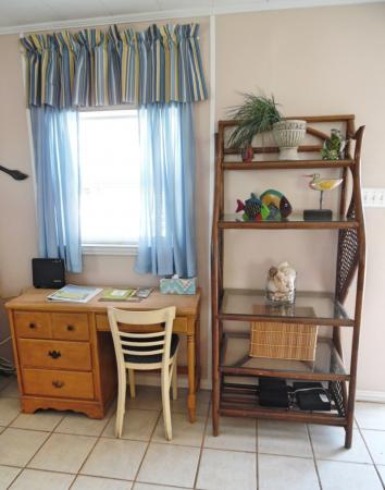 Click to enlarge image A desk if you absolutely have to work! - Cottage in the Dunes - One Bedroom Cottage with pool